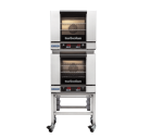 Turbofan E23D3/2C - Half Size Digital Electric Convection Ovens Double Stacked on a Stainless Steel Base Stand