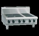 Waldorf 800 Series RNL8603E-B - 900mm Electric Cooktop Low Back Version Bench Model