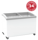 Exquisite SD400 Curved Glass Display Chest Freezers
